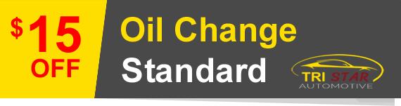 Oil change discount at Tristar Automotive.