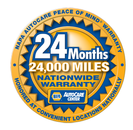 NAPA Autocare Peace Of Mind Warranty at Tristar Automotive in Santa Rosa, CA.